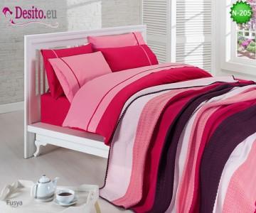 Спален комплект си плетено одеало N-218