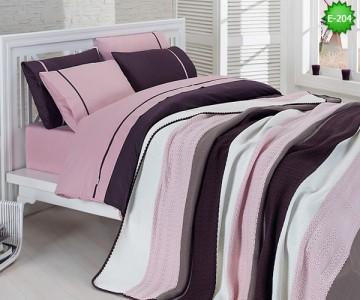 Двулицево едичнично спално бельо с одеало Е-217