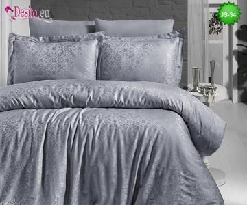 Луксозно спално бельо от памук-сатен с жакард 1-201